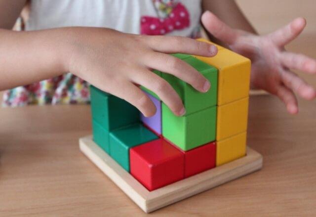 立体図形と積み木問題を得意にする