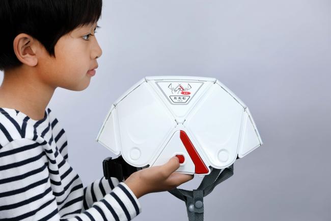 フラットメット キッズはランドセルにも収納可能な防災ヘルメット